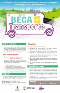 convocatoria beca transporte 2016 segundo semestre 1